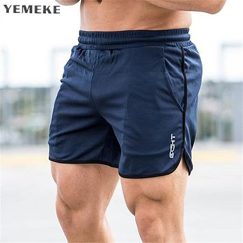Men shorts Calf-Length gyms Fitness Bodybuilding Casual Joggers workout sporting short pants Sweatpants Sportswear