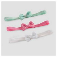 Baby Girls' 3pk Bow Headwrap - Just One You™ Made by Carter's® Pink/Green