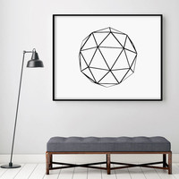 Abstract Print Poster Art Digital Geometric Minimalist Art Home Decor Giclee Screenprint Extra Large Letterpress Gallery Wall PRINTABLE