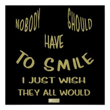 Smile Quote by Kat Worth Poster