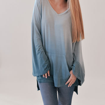 By Your Side Pullover - Mint