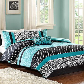 Mi Zone Chloe Duvet Cover Set in Teal