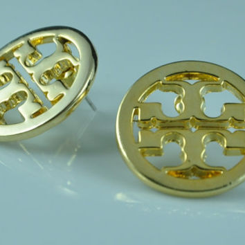 Tory Burch inspired stud earrings - Gold Plated