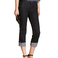 Banana Republic Womens Factory Dark Denim Cuffed Crop