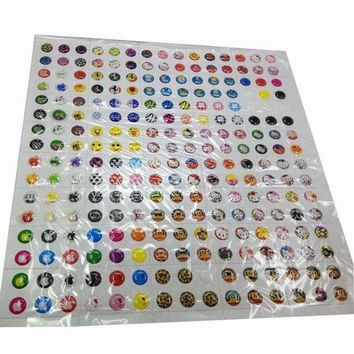 DCCKU7Q 330pcs Cartoon Rubber Home Button Sticker for iPhone 4 4s 5G ipad 2 3