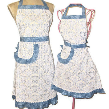 Dandy Damask Apron - Mommy and Me