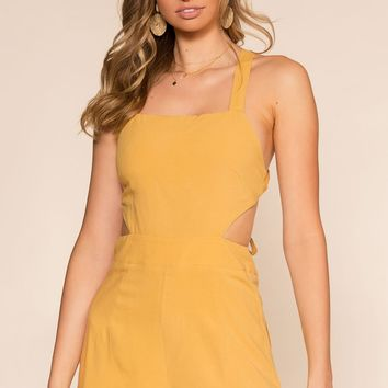 Lettie Romper - Honey