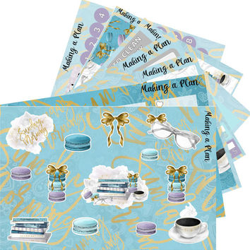 Sunday Morning  Vertical Kit Planner Stickers for use with ERIN CONDREN LIFEPLANNER