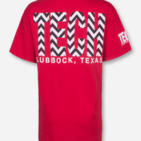 Lubbock, TX TECH in Chevron T-Shirt
