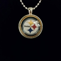 "Steelers 1"" Pendant Necklace"