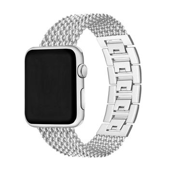 Chenia Mesh Loop Milanese Stainless Steel Watch Band Link Bracelet Adjustable Replacement Metal Watch Band 38mm for Apple Watch iWatch Sport Edition Series 3, Series 2, Series 1 (Silver-38mm)
