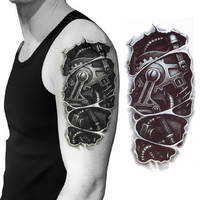 New 3D Waterproof Robot Arm Temporary Tattoo Stickers Body Art Removable Tatoo