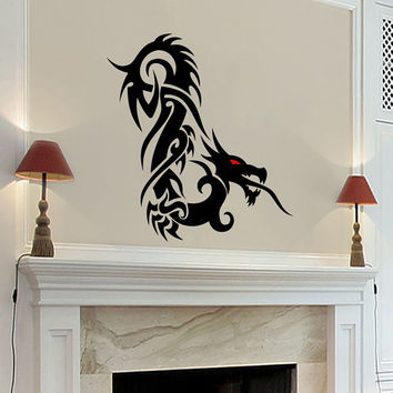 Wall Decals Dragon Decal Vinyl Sticker Bathroom Kitchen Window Car Bedroom Home Decor Hall Room Dorm Interior Art Murals MN529