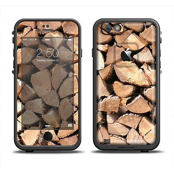 The Chopped Wood Logs Apple iPhone 6 LifeProof Fre Case Skin Set