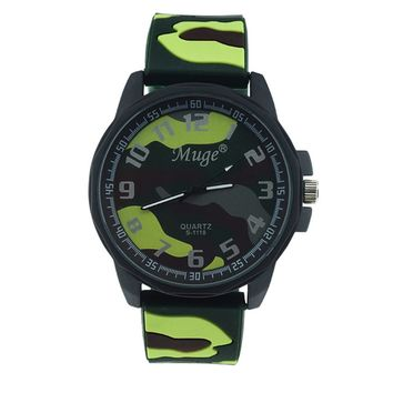 Muge Personalized Men 's Camouflage Strap Sports Watches Women' s Watches