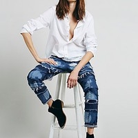 Tortoise x Free People Womens Patched Straight Leg