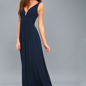 Leading Role Navy Blue Maxi Dress