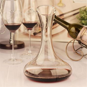 1500ml Elegant Lead-free Crystal Glass Wine Decanter Red Wine Carafe Aerator Wine Pourer