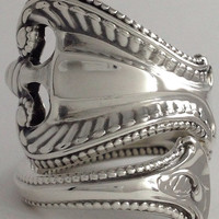 """Size 9 Vintage """"Old Colonial"""" Towle Sterling Silver Spoon Ring"""