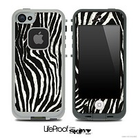 Real Zebra Animal Print Skin for the iPhone 5 or 4/4s LifeProof Case
