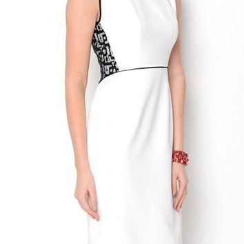 Anne Klein Short Sleeve Lace Detail Dress - Cavalli, Moschino, Missoni, Tory Burch &more - Modnique.com