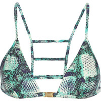 Vix - Skin Stairs printed triangle bikini top