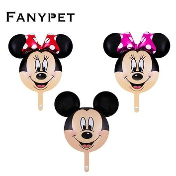 10pcs/lot mini Minnie Mickey mouse head balloon Birthday Party Wedding baby shower decorations children's toys globos Supplies