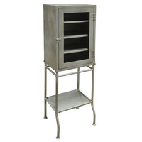 Industrial Iron Cabinet, Grey