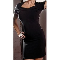 Folter Clothing BLACK DAHLIA DRESS in Black