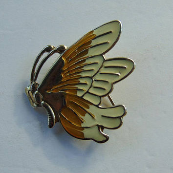 Crème and Gold color Butterfly Belt Buckle for Little Girl