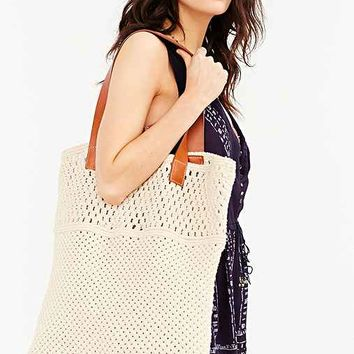 Ecote Oversized Macrame Tote Bag- Neutral One