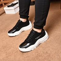 VALENTINO Men Fashion Lace-up Casual Sneakers Sport Running Shoes black Best Quality