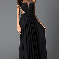 Long Prom Dress from JVN by Jovani with Illusion Neckline