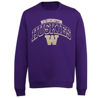 Washington Huskies Archibald Crew Sweatshirt - Purple