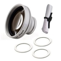Kodak PLAYSPORT 0.45x Wide Angle Lens With Macro (Modification Style) Magnetic Type + Cronies Micro-Fiber Cleaning Cloth