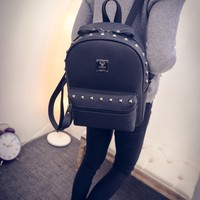 Stylish Backpack Rivet Fashion Casual Travel Bag [6582344391]