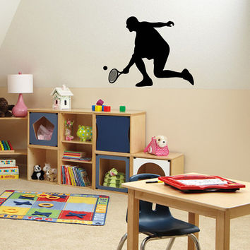 Housewares Wall Vinyl Decal Any Room Sport Tennis Player Boy Mural Sticker V126