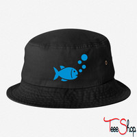 Fish bucket hat