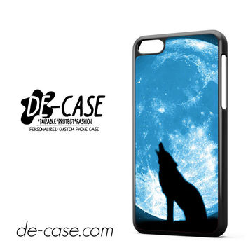 Wolf At The Blue Moon For Iphone 5C Case Phone Case Gift Present