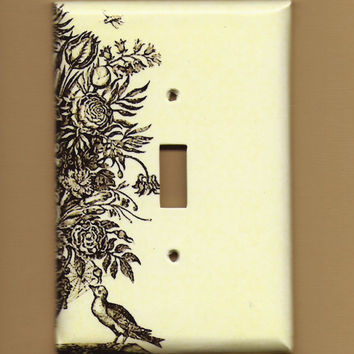 Oversized 35 x 525 Vintage Still Life Switchplate by TurnMeOnArt