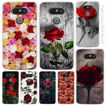 Beautiful Garden Red Roses Flowers Clear Cell Phone Case Cover Shell for LG K3 K4 K8 K10 G3 G4 G5 G6 2017 V10 V20 K5 stylus3