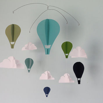 """Simple Hot Air Balloon Paper Mobile """"Henry"""""""
