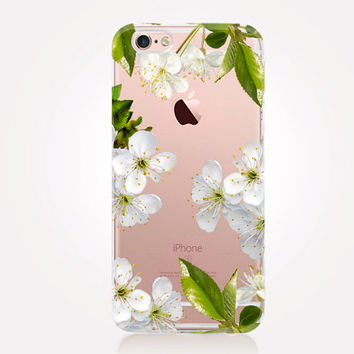 Transparent Floral Phone Case - Transparent Case - Clear Case - Transparent iPhone 6 - Gel Case - Soft TPU Case - Samsung S7