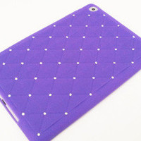 For Apple iPad Mini Purple Skin Luxury Bling Diamond Silicone Rubber Case MSC923