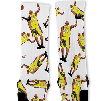 kobe mamba custom nike elite socks  number 1