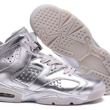 ONETOW Jacklish 2016 Air Jordan 6 Custom All Silver Newest For Sale