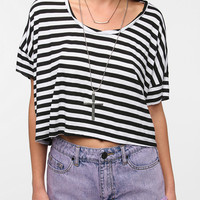 Urban Outfitters - Sparkle & Fade Striped Twist Neck Cropped Tee