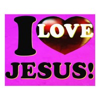 I Love Jesus! Photo Print