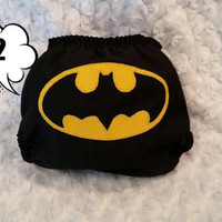 Batman All In Two (AI2) Cloth Diaper - One-Size or Newborn, S, M, L