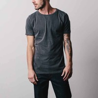 Cotton Crew Neck Tee in Charcoal